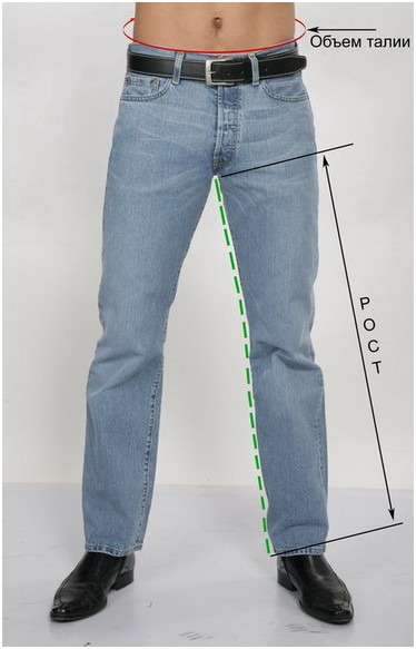 мужские джинсы размер
